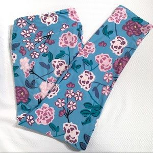 LuLaRoe TC2 Floral Leggings (Size 18-28)